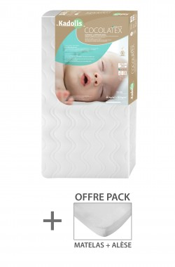 Coco Latex baby Mattress + organic cotton mattress protector